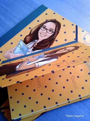 Carpeta y cuaderno personalizados!